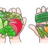 一食分の野菜量(120g)を表したイラスト