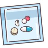【お薬】一包化した薬剤のかわいいフリーイラスト