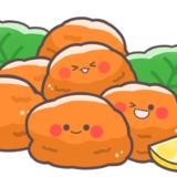 【食べ物】かわいい唐揚げ・ザンギのフリーイラスト