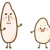 【食べ物】ジャポニカ米とインディカ米のかわいいフリーイラスト