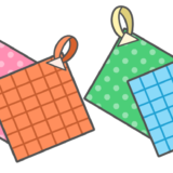 【保育・持ち物・物】ループ付きタオルのかわいいフリーイラスト