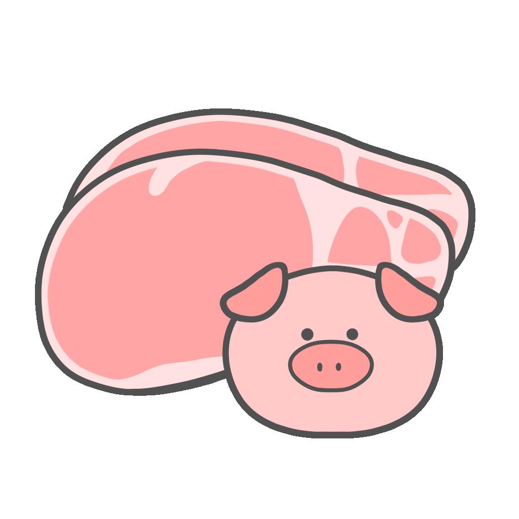 豚肉のかわいいフリーイラスト