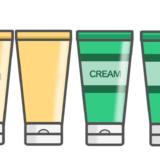 【お薬・医薬部外品】チューブタイプの保湿剤・クリームのかわいいフリーイラスト