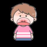 【医療・病気】ヘルパンギーナの症状のかわいいフリーイラスト