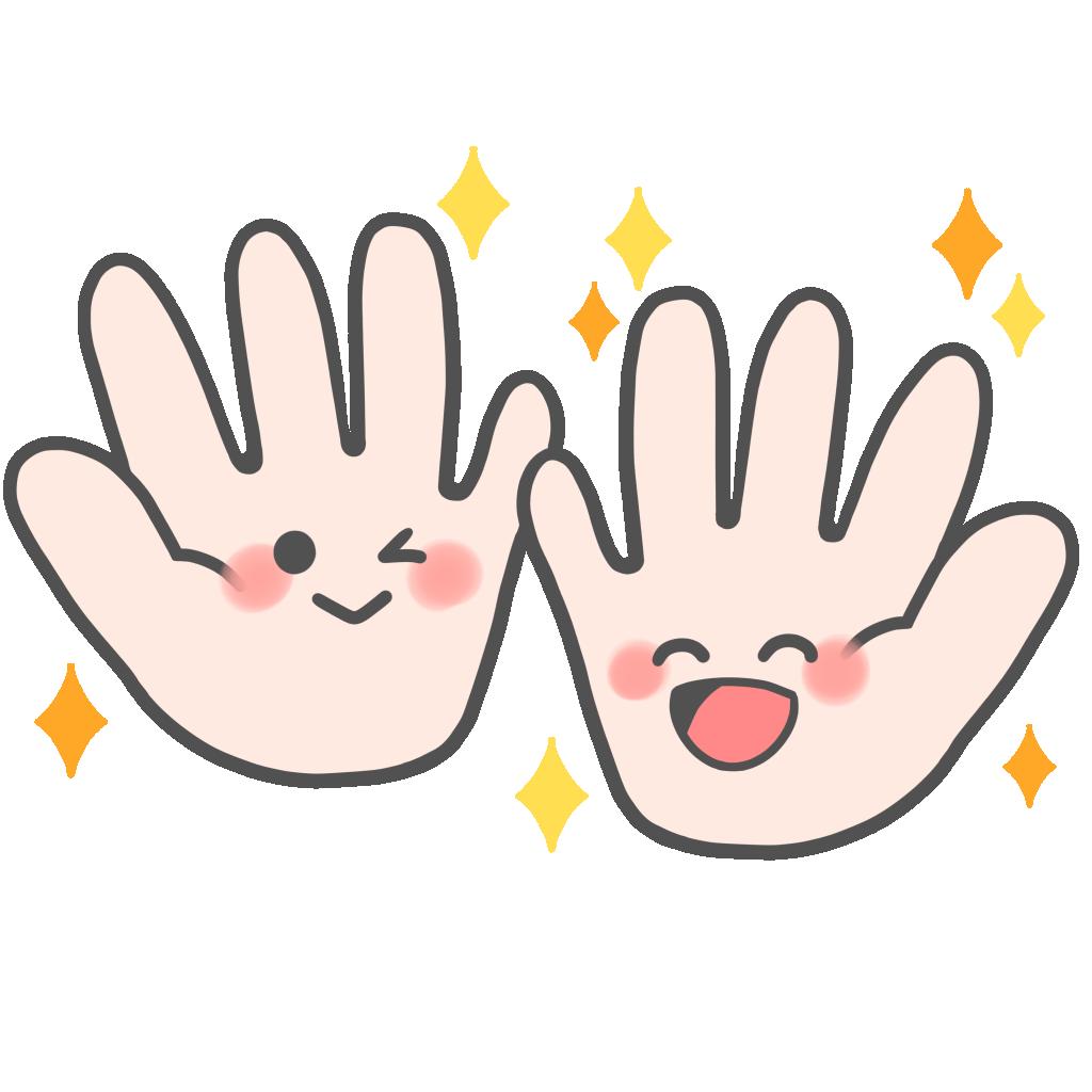 綺麗な手のフリーイラスト②