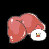 【食べ物・お肉】鶏レバーのかわいいフリーイラスト