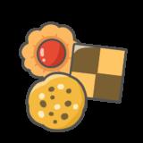 【食べ物・お菓子・ハロウィン】クッキーのかわいいイラスト