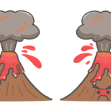 火山の噴火のイラスト
