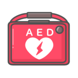【医療】AED(自動体外式除細動器)のかわいいフリーイラスト